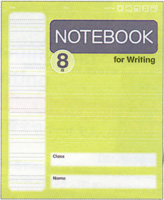 Pack of 10 English Notebooks for Kids   8 rows per page