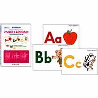 フォニックス・ピクチャーカード アルファベットカラー大判 | Cards