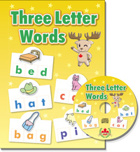 Three Letter Words  | Student Book with CD