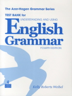 Understanding and Using English Grammar (4/e) | Test Bank