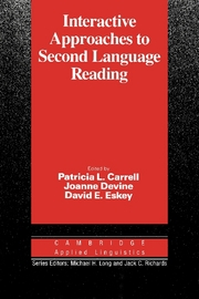 Interactive Approaches to Second Language Reading | Paperback