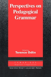 Perspectives on Pedagogical Grammar | Paperback