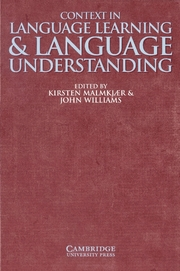 Context in Language Learning and Language Understanding | Paperback