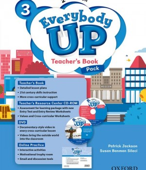 Everybody Up 3 (2nd Ed) | Teacher's Book Pack with DVD