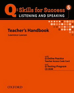 Q: Skills for Success - Listening and Speaking: Level 5 | Teacher's Book with Test generator CD-ROM