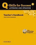 Q: Skills for Success - Listening and Speaking: Level 1 | Teacher's Book with Test generator CD-ROM