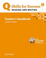 Q: Skills for Success - Reading and Writing: Level 1 | Teacher's Book with Test generator CD-ROM