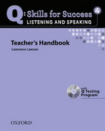 Q: Skills for Success - Listening and Speaking: Level 4 | Teacher's Book with Test generator CD-ROM