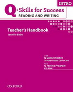 Q: Skills for Success - Reading and Writing: Intro | Teacher's Book with Test Generator CD-ROM