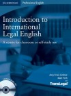 Introduction to International Legal English | Teacher's Book