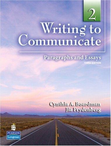 Writing to Communicate 2 | Answer Key